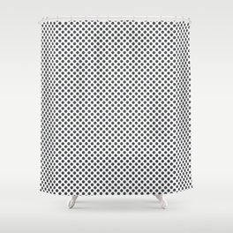 Dark Shadow Polka Dots Shower Curtain