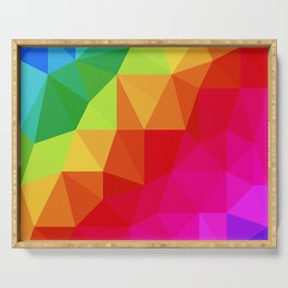 Rainbow Low Poly Serving Tray