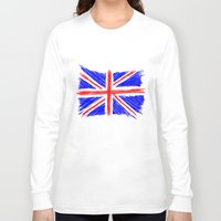 flag Long Sleeve T-shirts featuring Flag by Svetlana Sewell