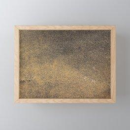 Black Yellow Sandpaper Texture Framed Mini Art Print