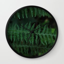 Green leaves of Christmas tree Wall Clock