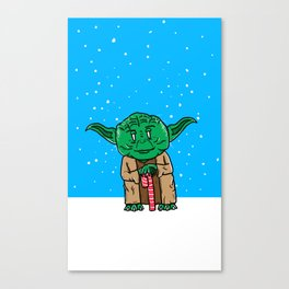 Yoda Christmas Canvas Print