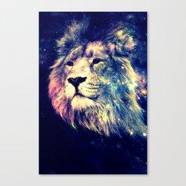 Galaxy Lion : Deep Pastels Canvas Print