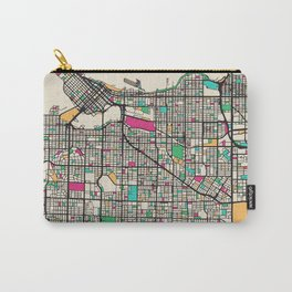 Colorful City Maps: Vancouver, Canada Carry-All Pouch