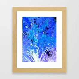 Blue Violet tree leaves Framed Art Print