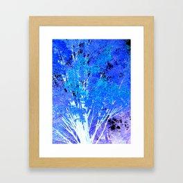 Blue Violet tree leaves Framed Art Print
