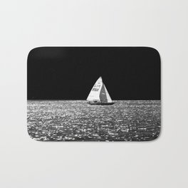 Sailing On The Lake Bath Mat