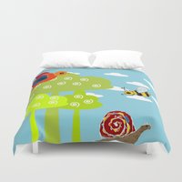 bee Duvet Covers featuring bee by BruxaMagica_susycosta