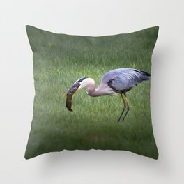 Hungry no more Throw Pillow