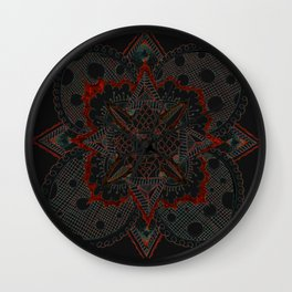 Divine Intention 5: Solar Red Wall Clock