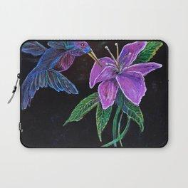 """Blue Hummingbird"" by KC Krimsin Laptop Sleeve"