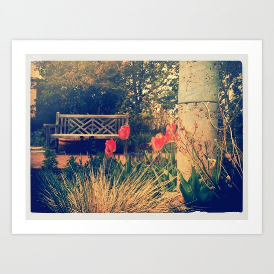 Bench 2 Art Print