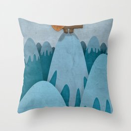Man of the Mountains Throw Pillow