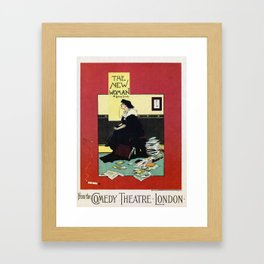 The New Woman, vintage Comedy Theatre london advert Framed Art Print