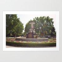 madrid Art Prints featuring Madrid by jamie ferguson