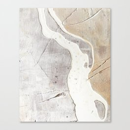 Feels: a neutral, textured, abstract piece in whites by Alyssa Hamilton Art Canvas Print