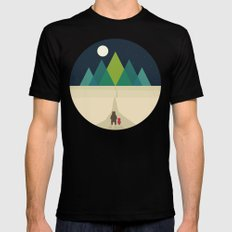 Long Journey LARGE Mens Fitted Tee Black