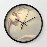 reading Wall Clocks featuring Reading by Natasja van Gestel