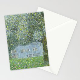 Upper Austrian Farmhouse by Gustav Klimt Stationery Cards