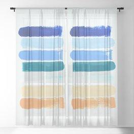 Beach Stripes Sheer Curtain