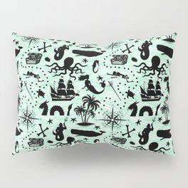 High Seas Adventure // Sea-Green Waves Pillow Sham