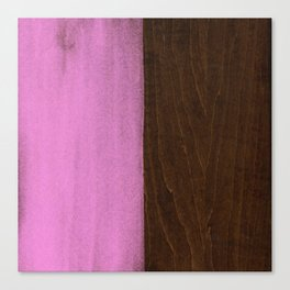 Pink Paint on Wood Canvas Print