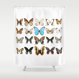 Colourful Butterfly Collection Shower Curtain