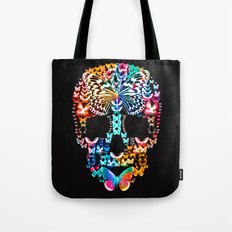 Cranium Butterflies (Black & Color Option) Tote Bag