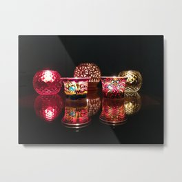 Kaleidoscope of Diwali Lights glowing in the dark Metal Print