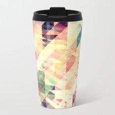 Textured Geometric Abstract Metal Travel Mug