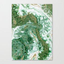 Team Splash, Green and Gold Canvas Print