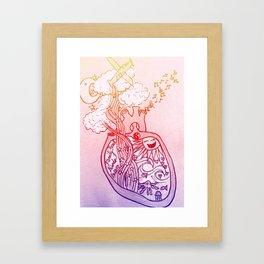 what lies in the heart Framed Art Print