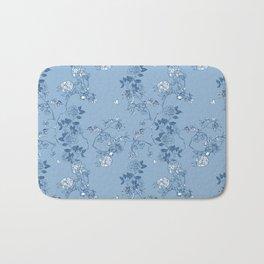 Chinoiserie in China Blue Bath Mat