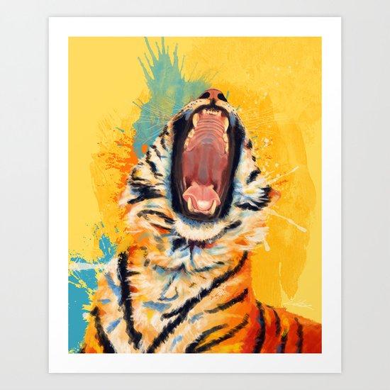 Wild Yawn - Tiger portrait by floartstudio