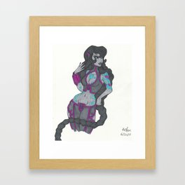 Alien princess Framed Art Print