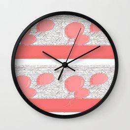 pink balloons Wall Clock