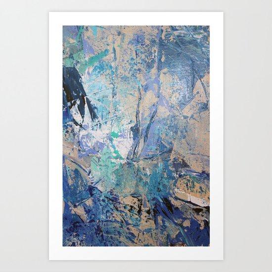 Clash of Tides (3 of 3) Art Print