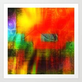 Spectrum Orange Art Print