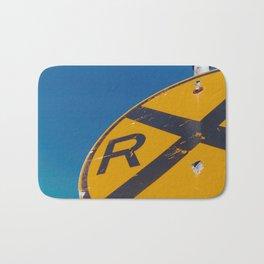 Railroad Sign-Film Camera Bath Mat