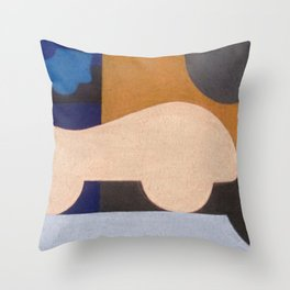 Visiting Henry Moore Throw Pillow