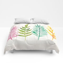 Colorful Botanical Leaves Comforters