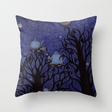 Kingfisher's Invitation to Tea (1) Throw Pillow