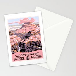 1938 Grand Canyon National Park Travel Poster Stationery Cards