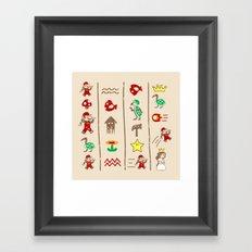 The Legend of Mario Framed Art Print