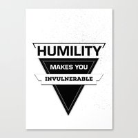 posters Canvas Prints featuring Quote Posters by Michael Descharles