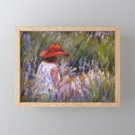 Lavender Picking — L Diane Johnson Framed Mini Art Print