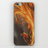 aang iPhone & iPod Skins featuring Avatar Aang by Zack Coleman