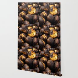 Food. Roasted chestnuts. Wallpaper