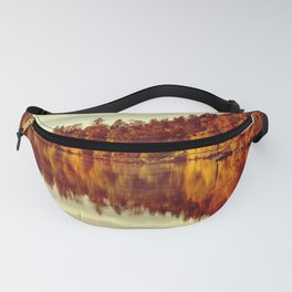 RIVER AUTUMNAL REFLECTION Fanny Pack