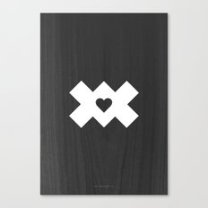 XoX Black Canvas Print